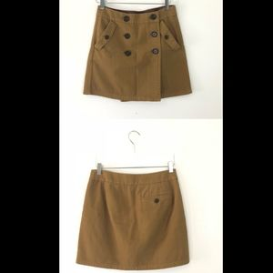 NWT J. Crew Double Breasted Cinnamon Mini Skirt